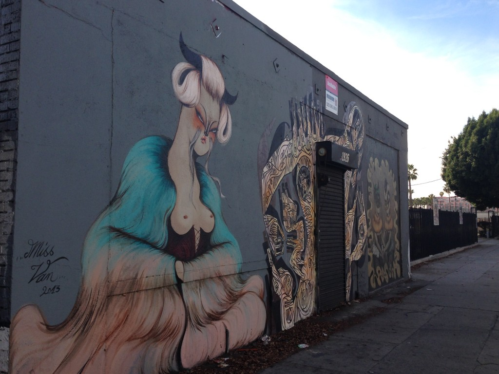 LA Street Art Miss Van