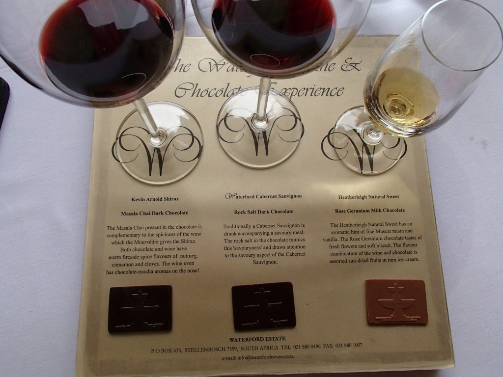 Waterford estate wine and chocolate