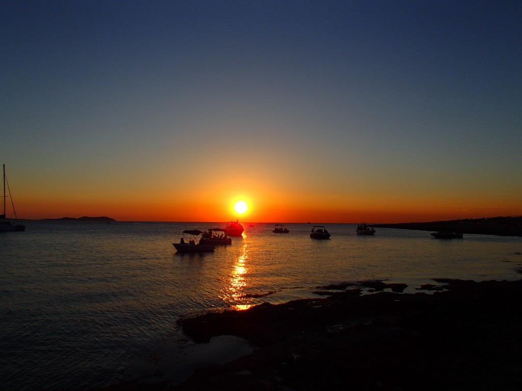 Sunset at Cafe del Mar Ibiza