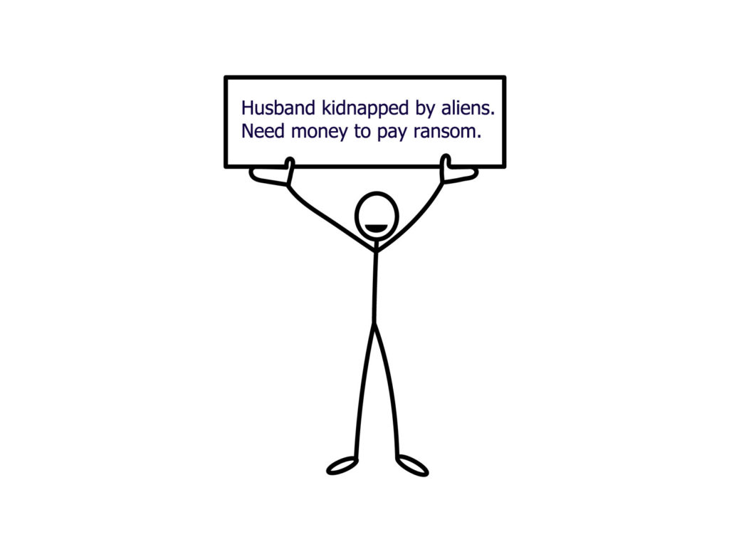 husband kidnapped by aliens