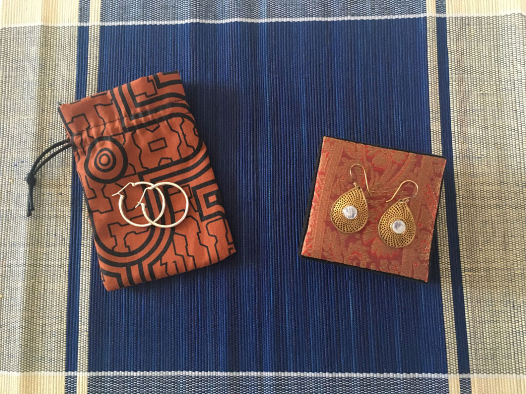 Novica earrings from Peru and India