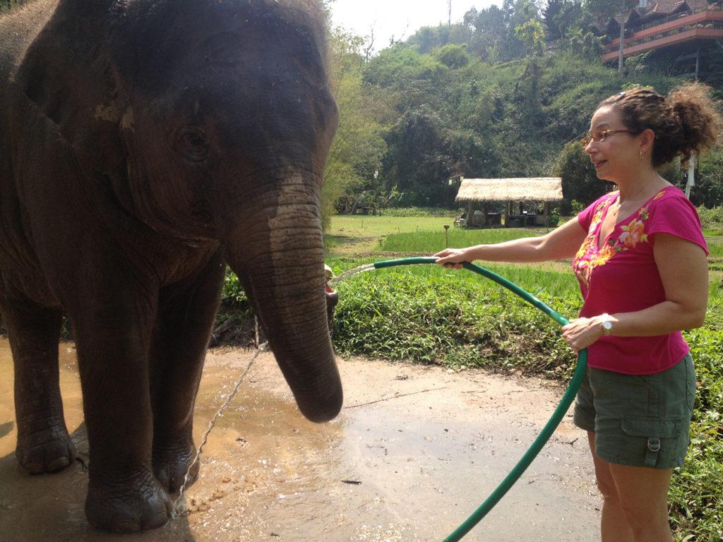 Lori Barber at Anantara Elephant Camp