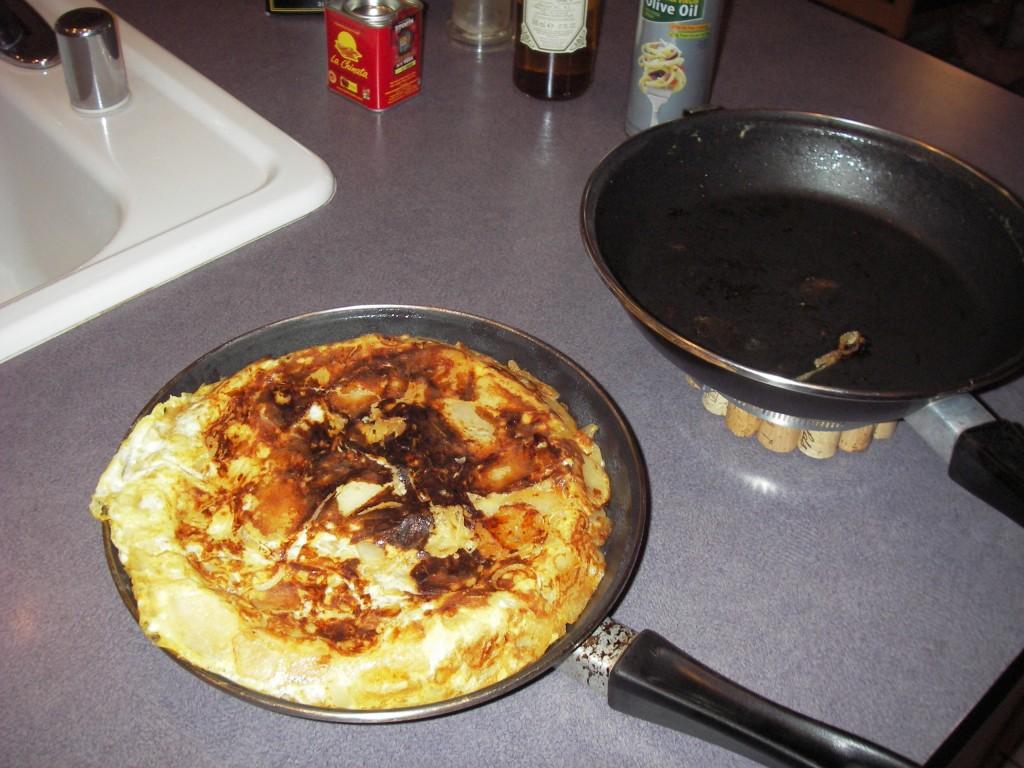 Tortilla Espanola after flipping