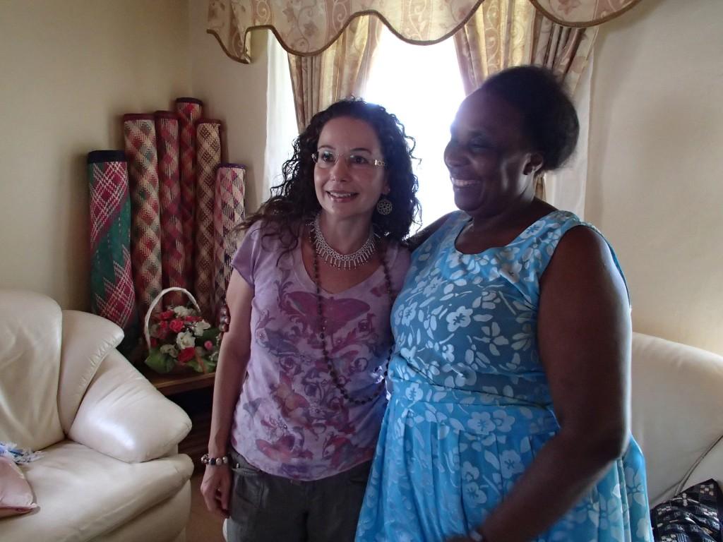 Betty Kahima and Lori Barber
