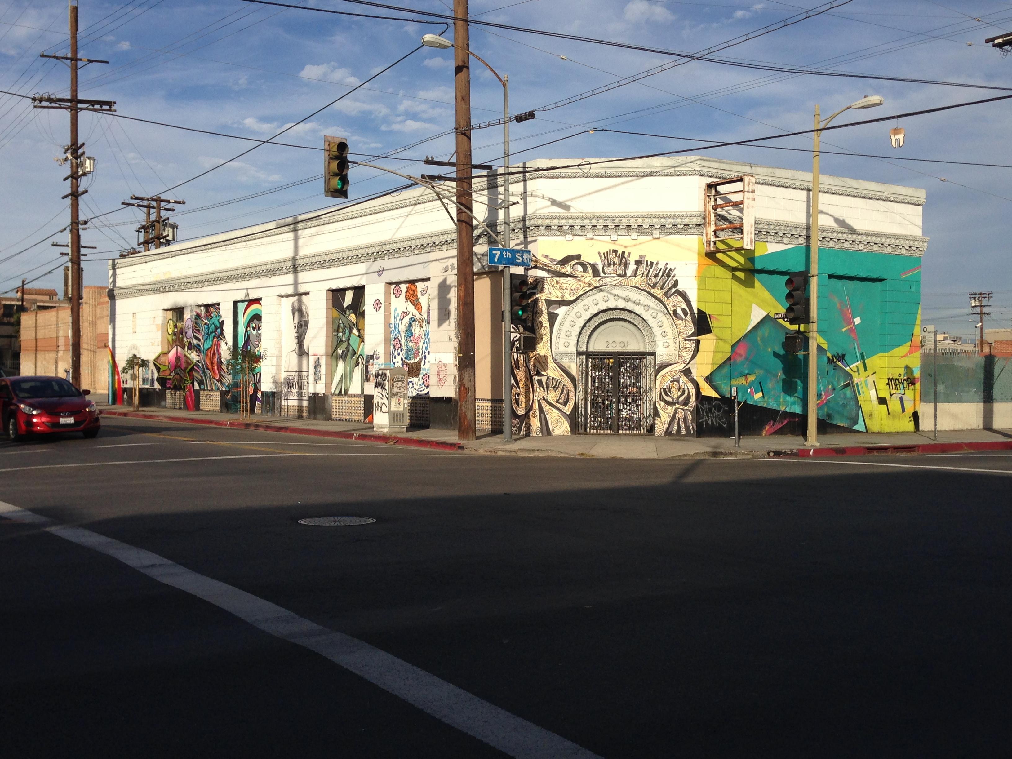 LA street art Mateo and seventh street