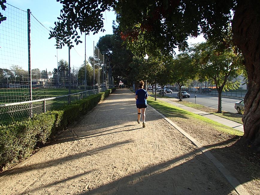 Lori jogging